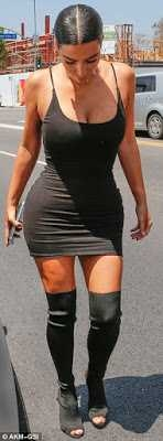 Photos: Kim Kardashian Looks Sexy As She Stepped Out In Black Short Dress